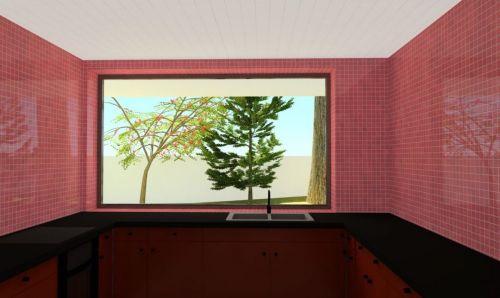 vista cozinha interior